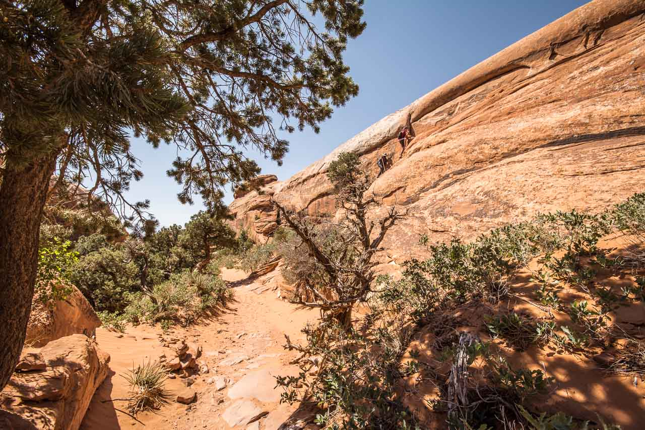 Hiking Trail Double O Arch