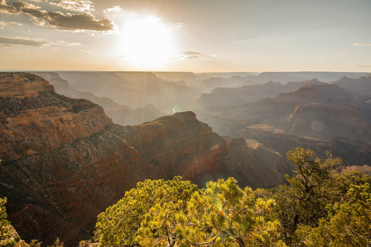 Hopi Point Grand Canyon Sonnenuntergang