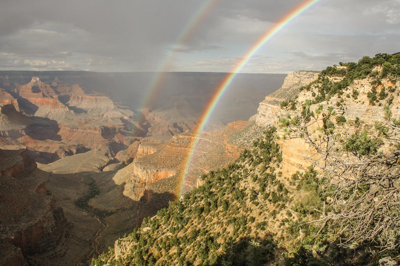 Grand Canyon South Rim Regenbogen