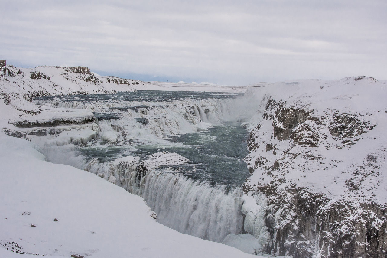 Gullfoss Island Winter
