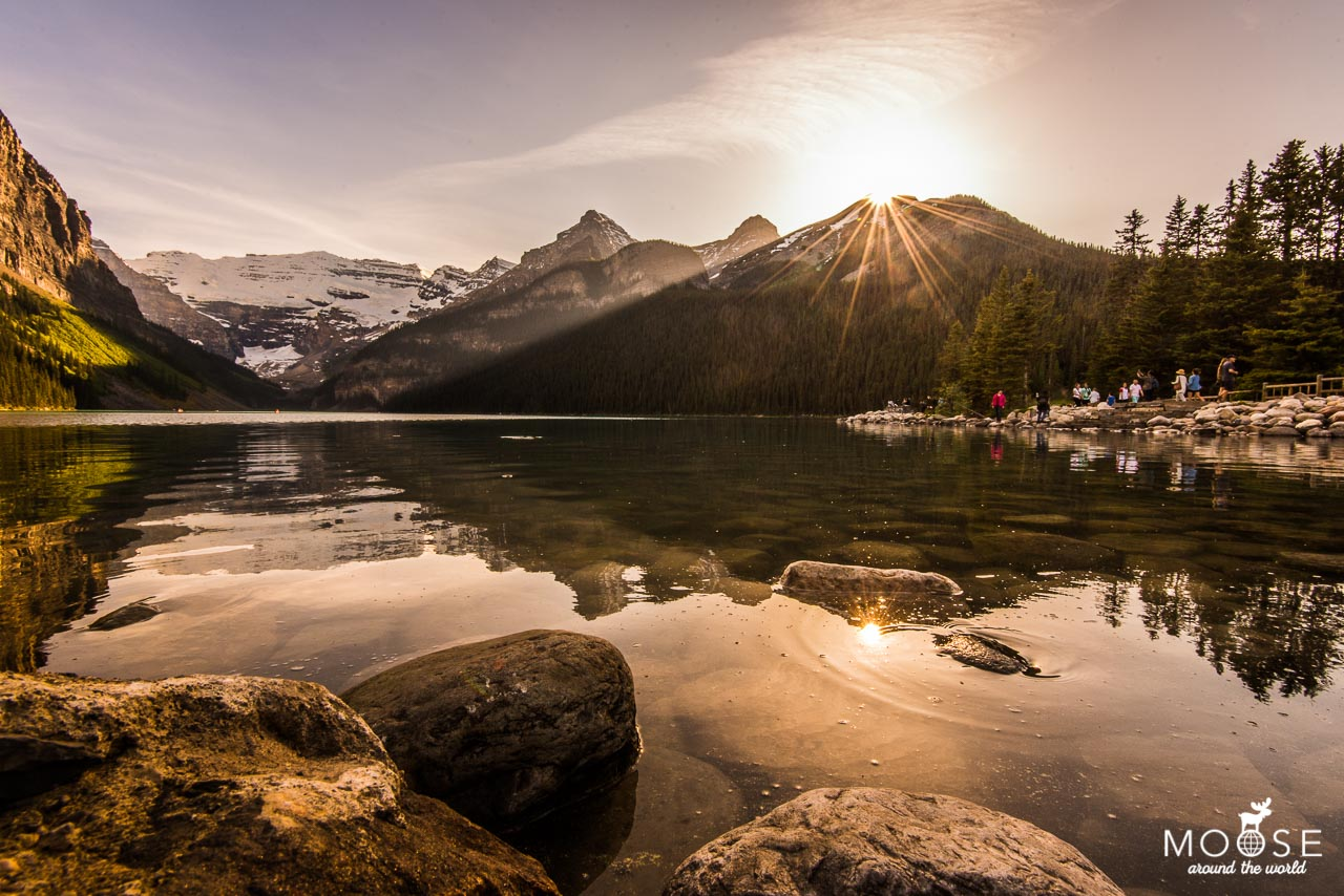 Lake Louise Sonnenuntergang