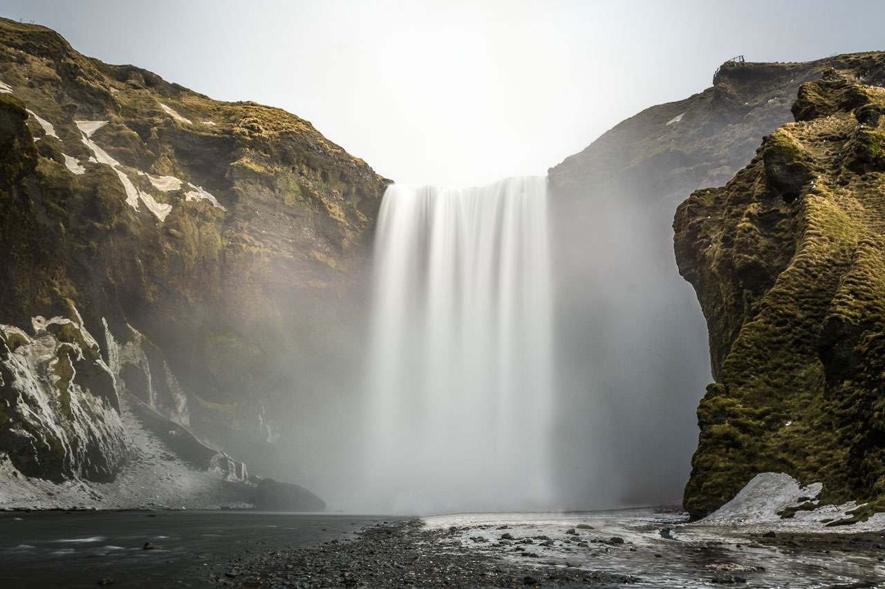 Skogafoss Island Winter