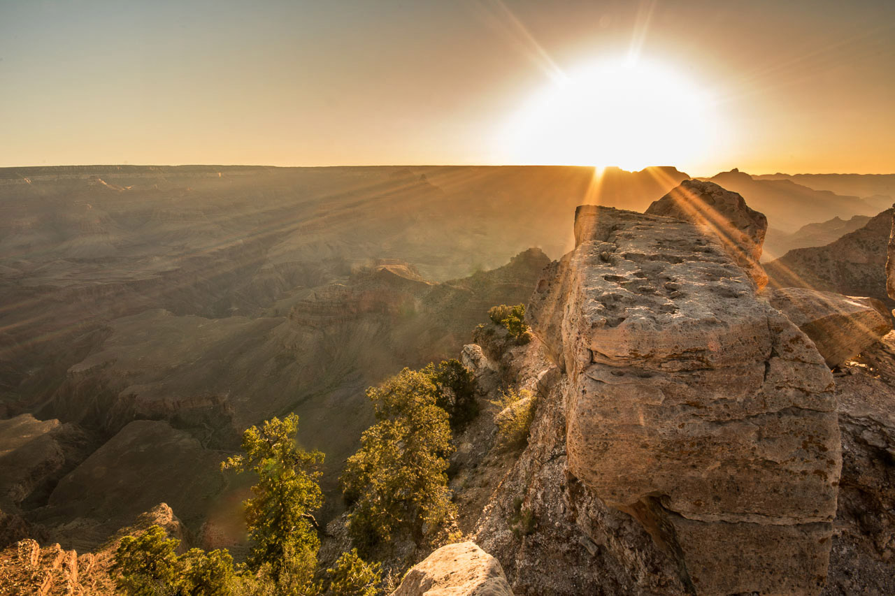 Grand Canyon Sonnenaufgang Mather Point