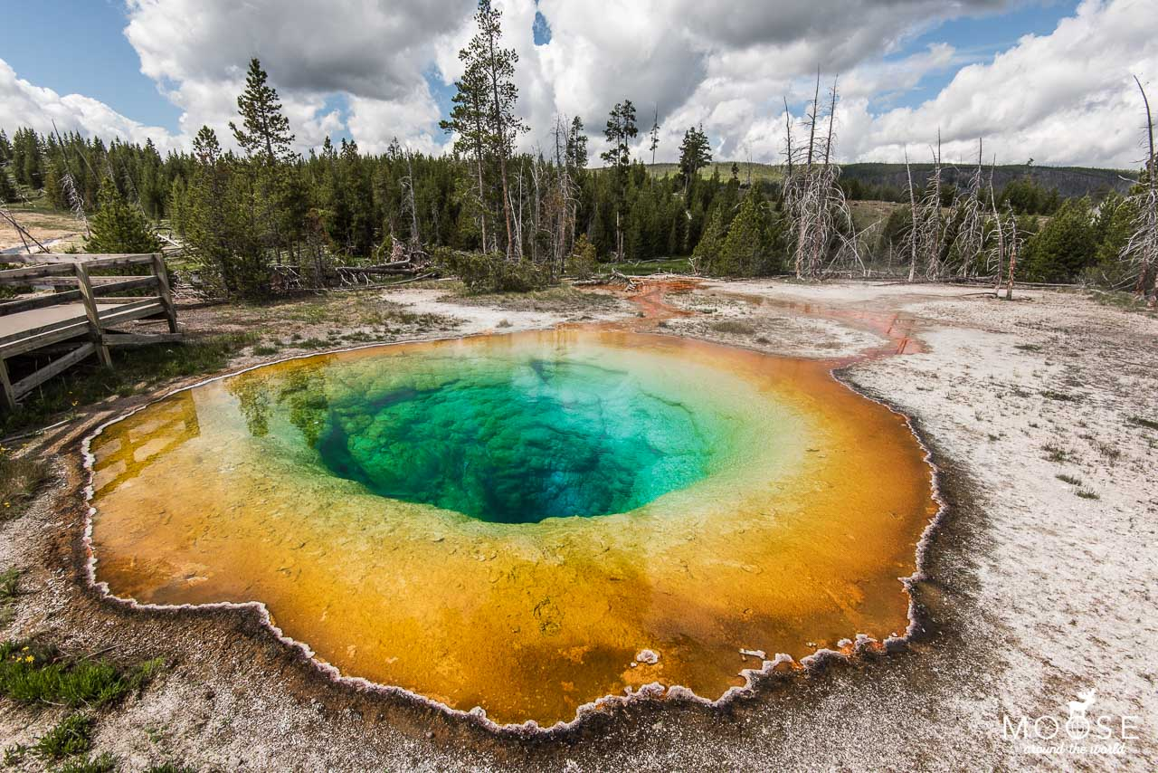 Upper Geyser Basin Yellowstone Nationalpark Morning Glory Pool