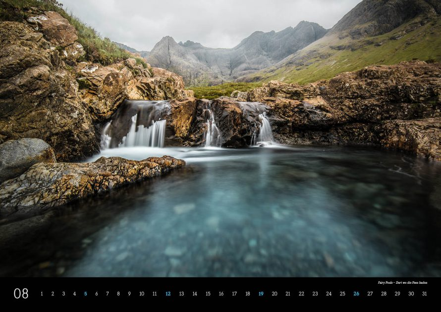 Kalender Schottland 2018 Isle of Skye Fairy Pools