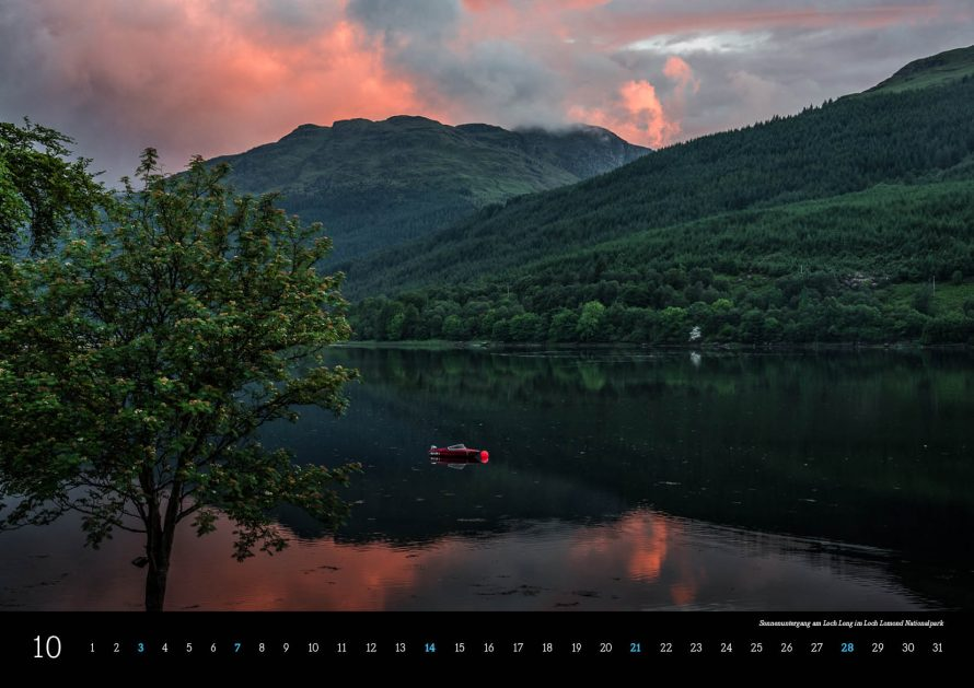 Kalender Schottland 2018 Loch Long im Loch Lemond National Park
