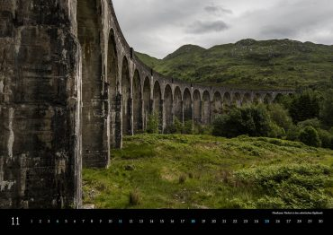 Kalender Schottland 2018 Highlands Glenfinnan Viaduct