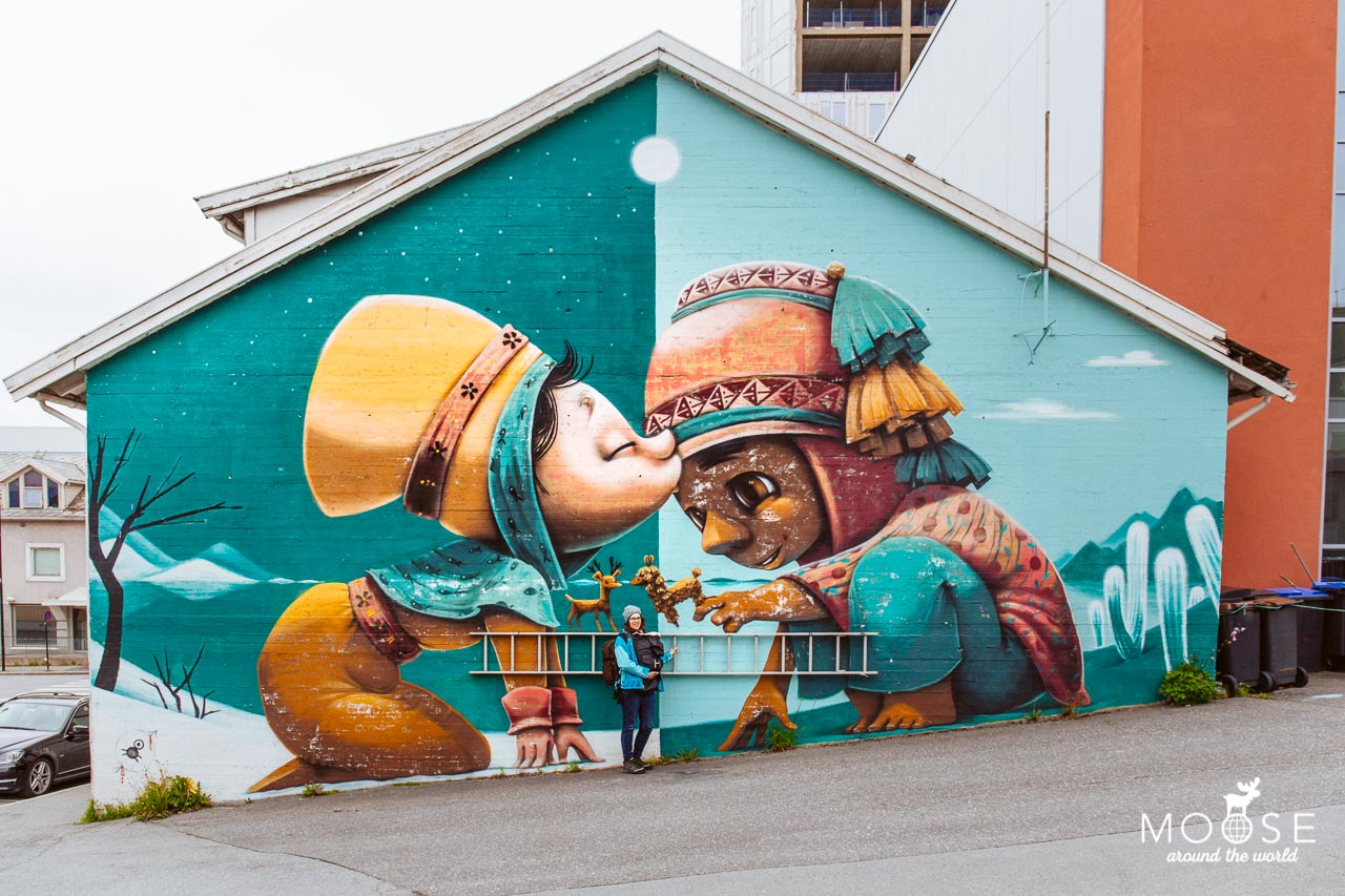 "Bodo_Streetart A kiss between cultures"" by Animalito"
