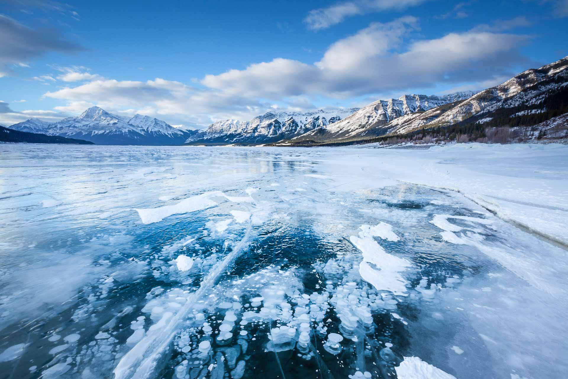 Abraham Lake Kanada Winter