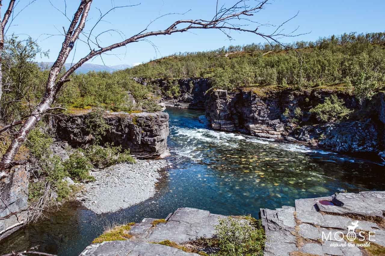 Abisko Nationalpark Schweden Lappland Canyon